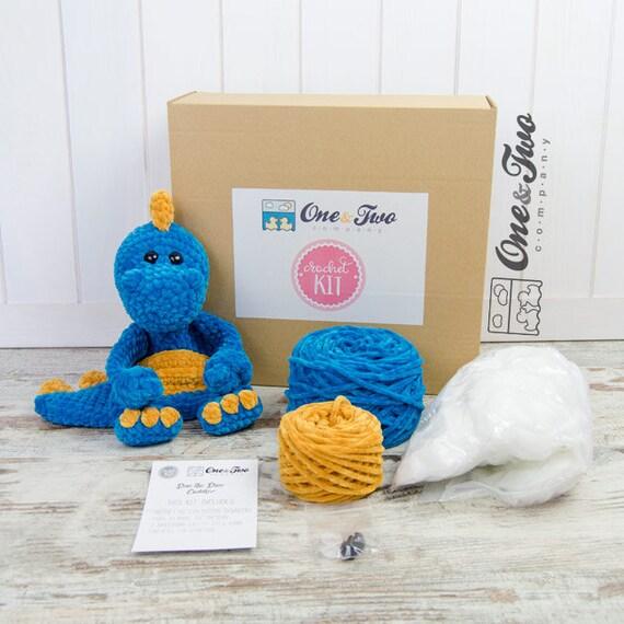 Dan Dino Kuschelpartner blau und gelb Version DIY KIT | Etsy