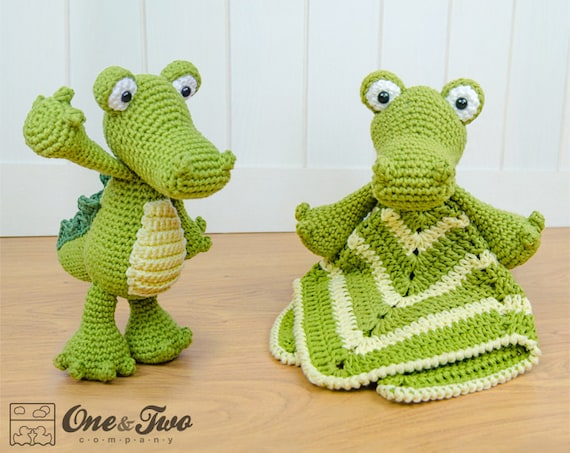 Combo Pack Crocodile Lovey And Amigurumi Set For 799 Etsy