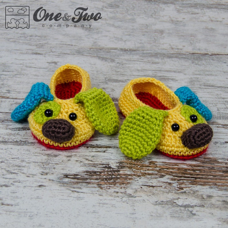 Scrappy The Happy Puppy Slippers Pdf Crochet Pattern Etsy