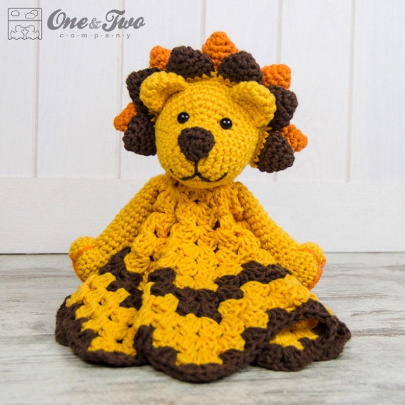 Lovey Crochet Pattern  Lion PDF Security Blanket  Tutorial image 0