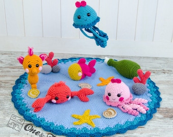 Adventure under the Sea Playset - PDF Crochet Pattern - Instant Download
