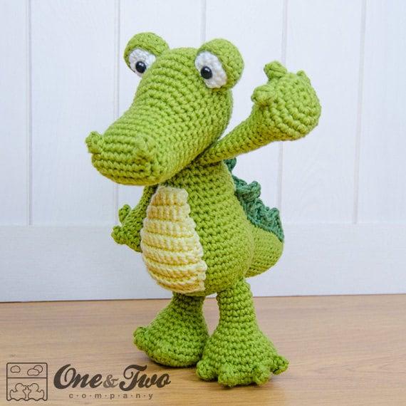 Crocodile Amigurumi Pdf Crochet Pattern Instant Download Etsy