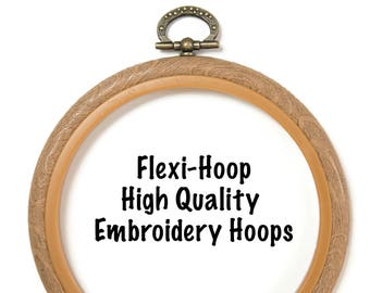 Flexi Hoop Plastic Embroidery Hoop - various sizes and shapes