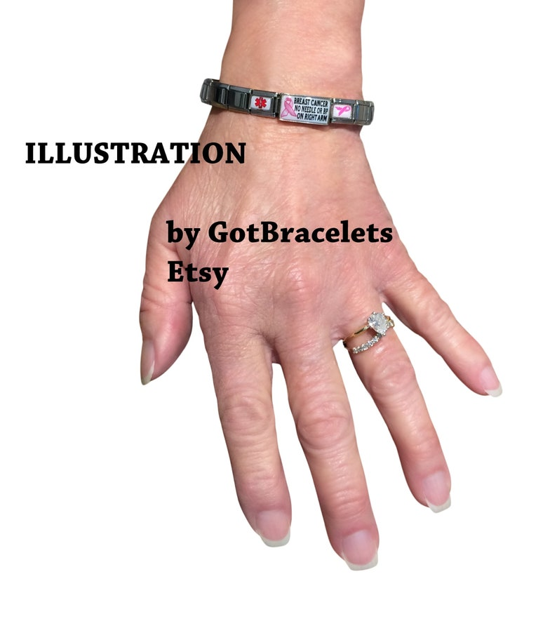 Ehlers Danlos Syndrome Bracelet Medical ID Alert Stretchable Sizable Italian Zebra Awareness Charm