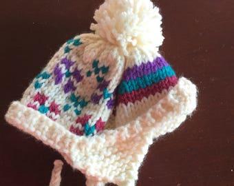Hand Knit Dog Hat