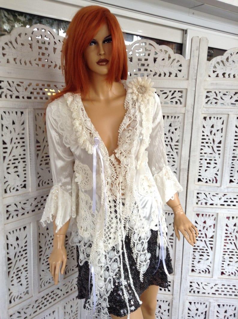 b37e62975c9c VENDUTO giacca off bianco primavera giacca romantico pizzo