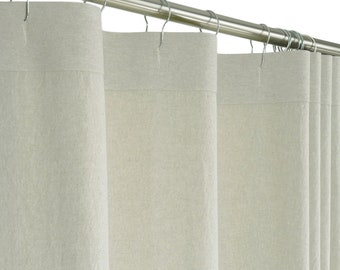 Long Shower Curtain Etsy