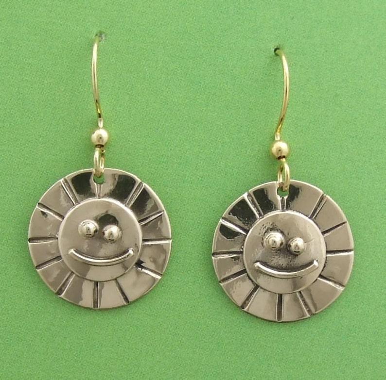 Bronze Sunshine Smile earrings image 0