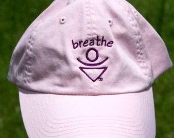 Baseball hat, favorite hat, Pink one size fits all, BREATHE Mantra Baseball hat