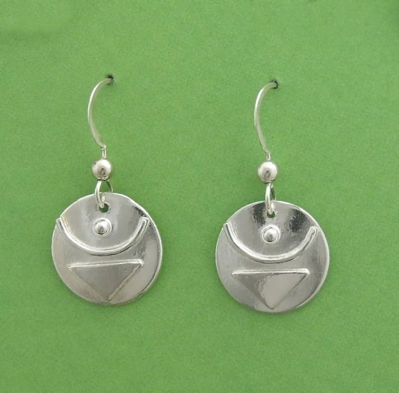 Sterling Empowered Symbol JOY earrings image 0