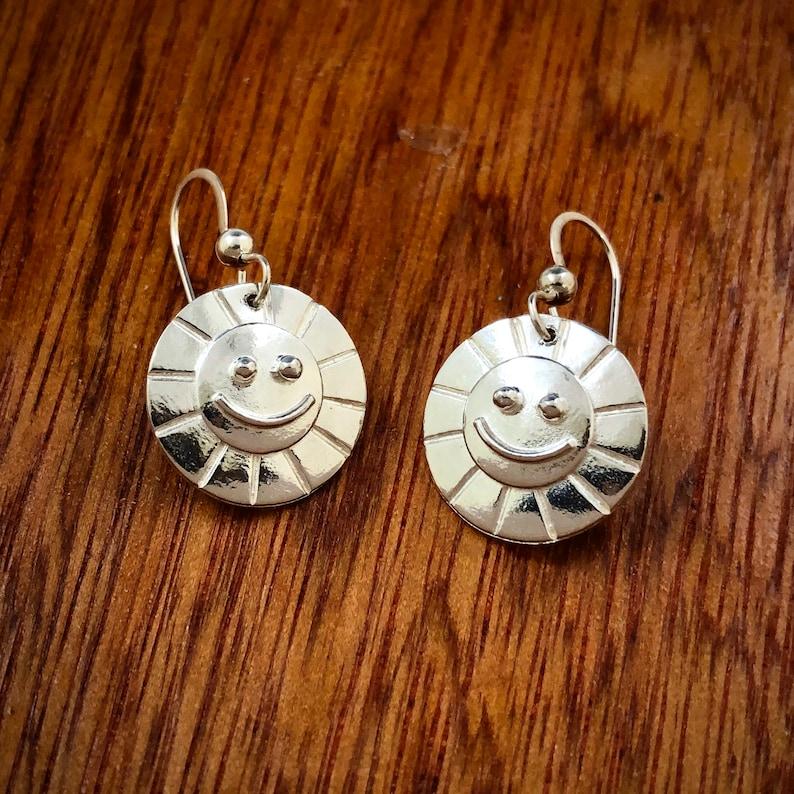 Sterling Silver Sunshine Smile earrings image 0
