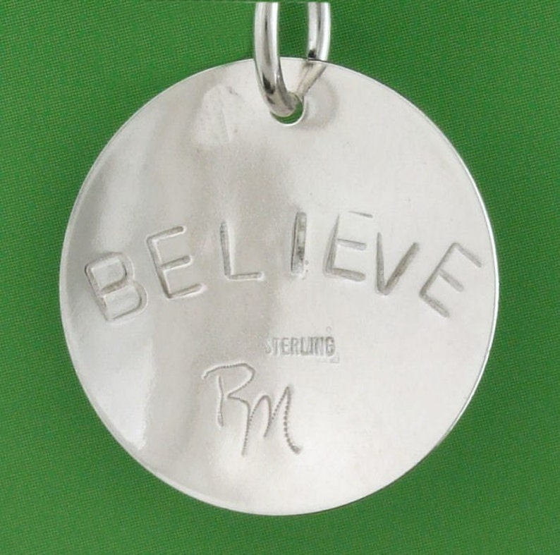 Sterling Silver Empowered Zone BELIEVE pendant image 0
