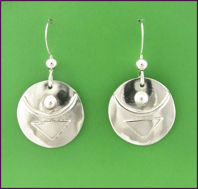 Empowered Sterling Silver Today I Can earrings image 0