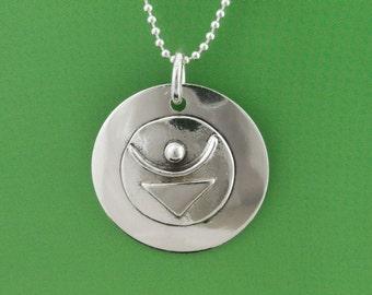 Sterling Empowered Symbol JOY Pendant