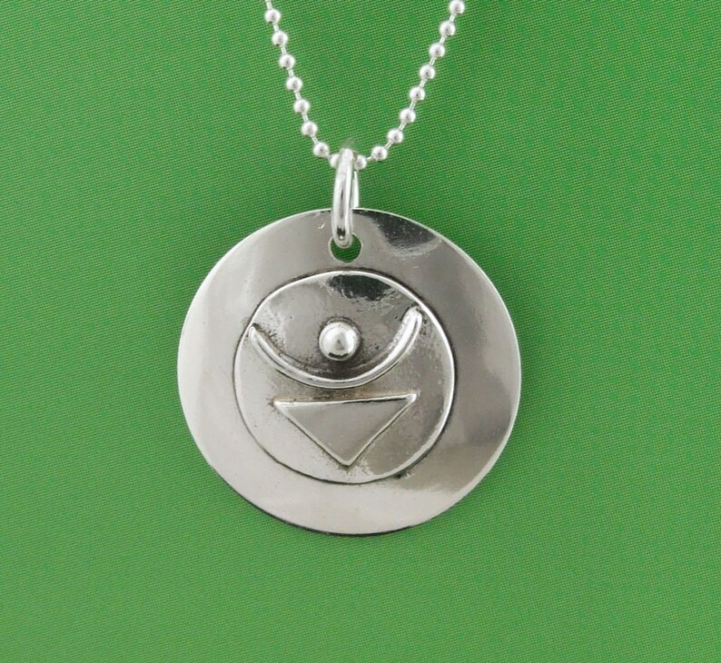 Sterling Empowered Symbol JOY Pendant image 0