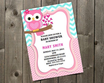 Owl baby shower invitation etsy girl owl baby shower invitation template filmwisefo