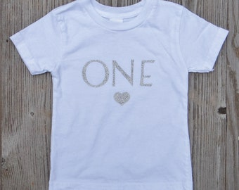 First Birthday Shirt Girl T One Year Old 1st