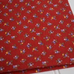 "1/2 yard cuts - Vintage Fabric - Bouquet Calico on Red - 18"" Wide - Selvage to Selvage length"