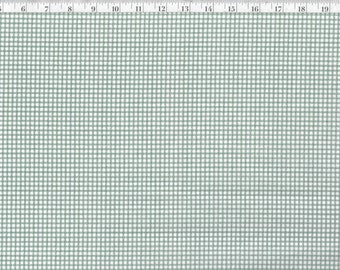 44 wide cool colors Vintage Sheet Yardage by the half yard BTHY vintage sheet fabric pastel green small scale gingham