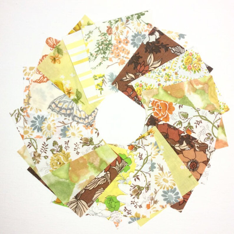 Vintage Sheet Autumn Colors 5 Die-Cut Charm Packs image 0