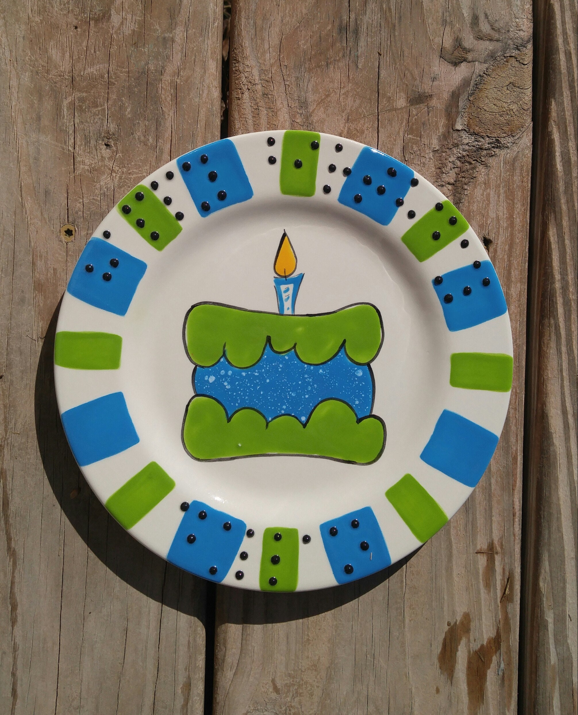Braille Personalized Custom 8 Or 10 Happy