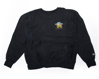 90s Champion - Cruis'n USA Video Game style logo -  Reverse Crewneck Sweater  - Size XL