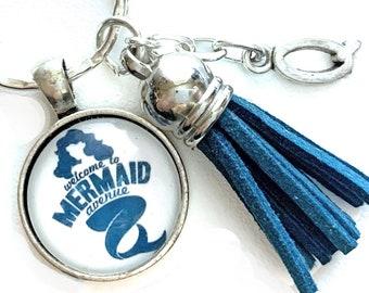 Mermaid Key Holder, Quote Keychain, Mermaid Key Chain, Personalized Gift, Beach Lover Gift, Mermaid Lover Gift Under 15, Mermaid Accessories