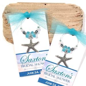 Starfish Shower Wedding Favor Thank You Beach Charm 50 Starfish Charm Silver Starfish Starfish Favor Beach Wedding Wine Charm Luau