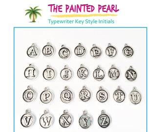 Add A Typewriter Key Initial, Add On Initial Charm Add On Letter Charm Add On Item Add A Charm, Add On Charms, Alphabet Charm, ABC Charm