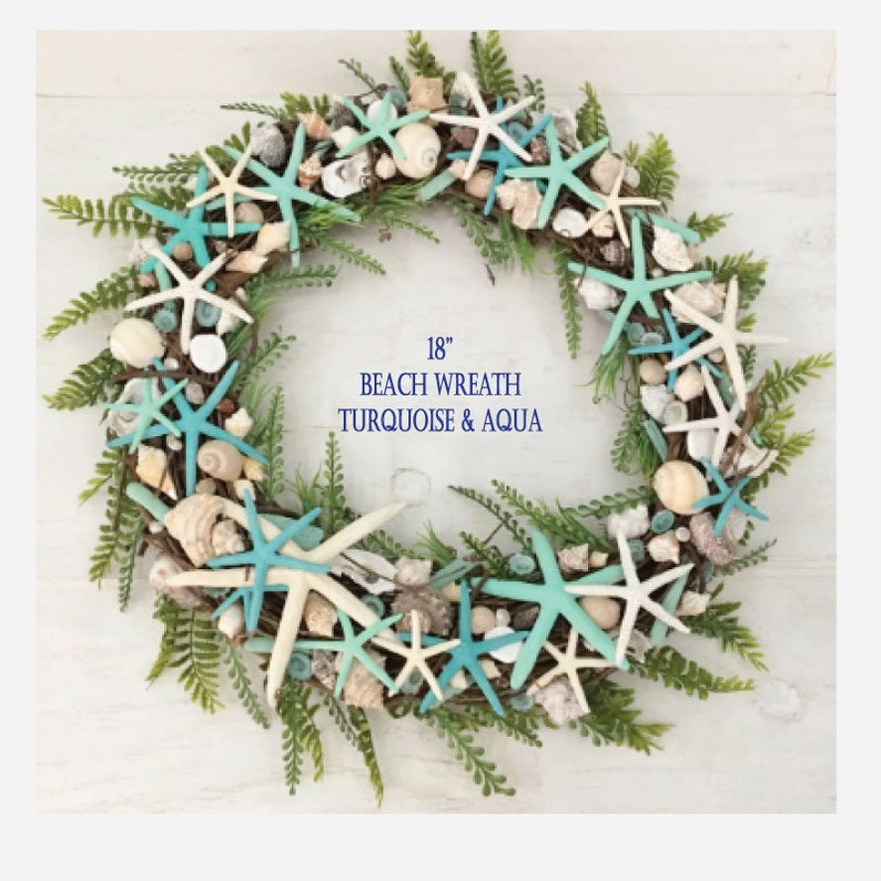 Nautical Christmas Wreath.18 Beach Wreath Coastal Wreath Starfish Wreath Shell Wreath Beach Christmas Wreath Nautical Wreath Beach House Decor Coastal Decor
