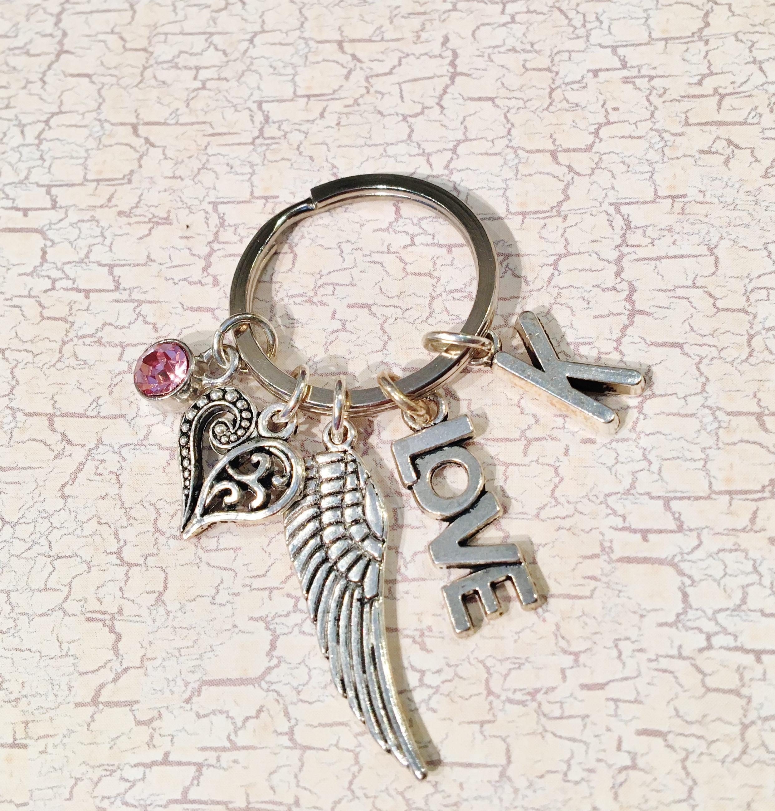 the Nikki design Initial Keychain
