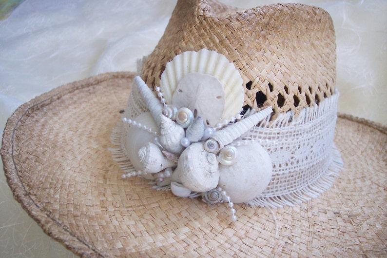 203e7279 ... Beach Hat Ladies Hats Shell Hat Beach Wedding Hat Sun Hat image 2 ...