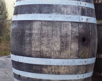 Rustic Use Wine Barrel solid oak from a Napa Valley Winery