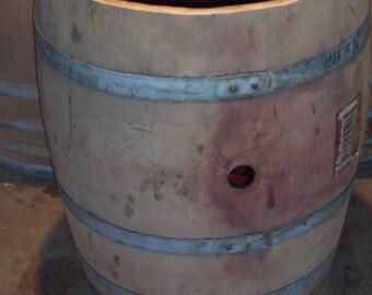 3/4 wine barrel planter