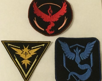 Pokemon Go! inspired - Team Symbol Patches