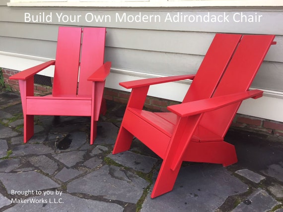 Build Your Own Modern Adirondack Chair | Etsy