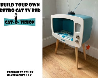 """Build Your Own """"Cat-O-Vision"""" Cat TV Bed (with these Digital PDF. Plans)"""
