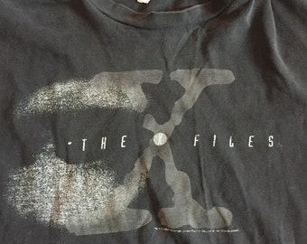 Vintage X Files T Shirt - Black XL 1995 e26634139