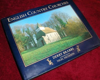 ENGLISH COUNTRY CHURCHES Vintage HardcoverPhotography Book By Derry Brabbs