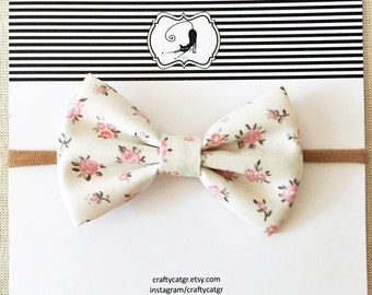 Baby headband,bow headband,girl headband,fabric headband,nylon headband, floral cotton