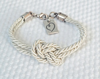 Sailor Knot Bracelet,Nautical Knot Bracelet,Silk cord knot bracelet,Infinity Love Knot Bracelet,Friendship/Bridesmaid/Babyshower gift