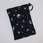 """GLOW in the DARK - Pipe Pouch - Space Pipe Bag - Padded Pipe Pouch - Stoner Gift - Glass Pipe Case - Smoke Accessory - 7"""" x 5"""" DRAWSTRING"""