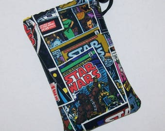 """Pipe Pouch, Pipe Bag, Star Wars Comic, Pipe Case, Padded Pouch, 420, Smoke Bag, Padded Bag, Nerd Gift, Cannabis, Stoner Gift - 5"""" DRAWSTRING"""