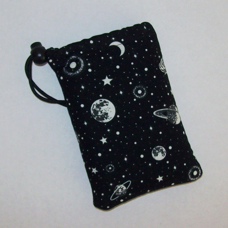 GLOW in the DARK  Pipe Pouch  Space Pipe Case  Glass Pipe image 0