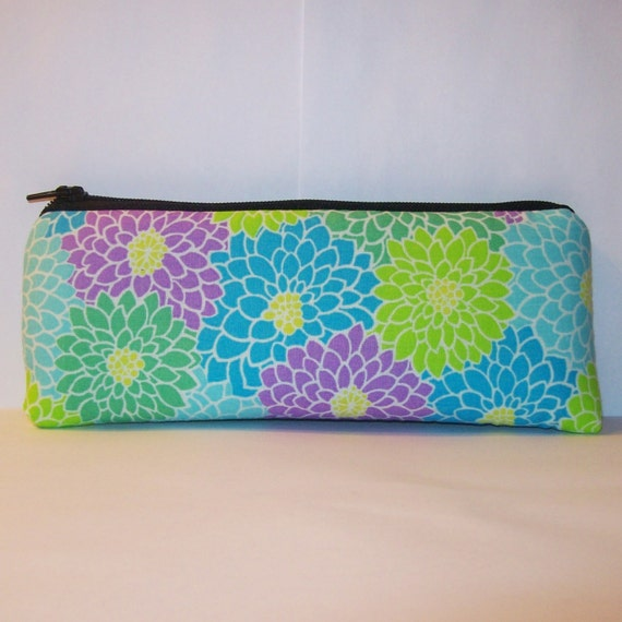 "Padded Pipe Pouch - Cute Spring - Glass Pipe Case - Pipe Bag - Zipper Bag - Floral Bag - Vape Pen Bag - Smoke Accessory - 7.5"" x 3"" LARGE"
