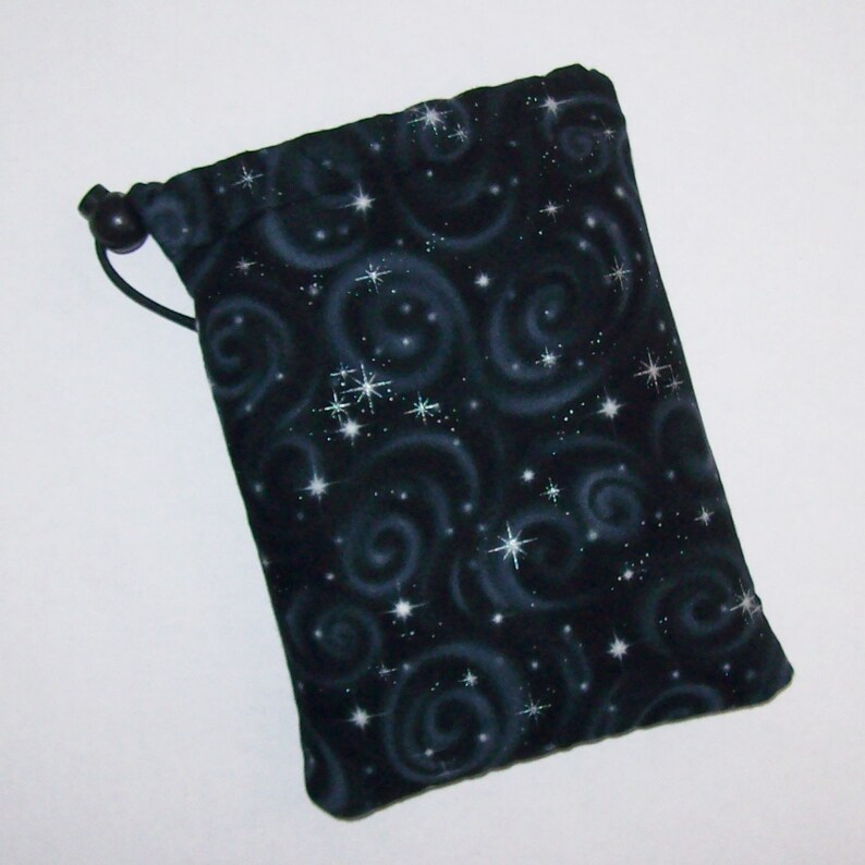 Pipe Pouch  Black Night Sky  Pipe Case  Glass Pipe Bag  image 0