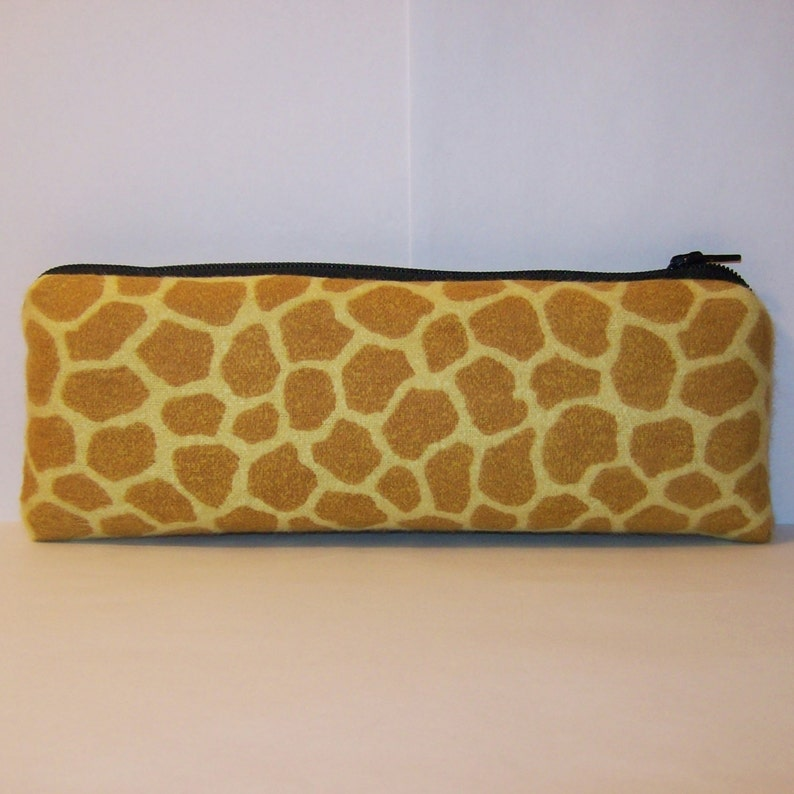 Giraffe Pipe Pouch 7.5 x 3 LARGE Vape Pen Case Glass Pipe Case Animal Print Bag Smoke Accessory Pipe Bag Padded Pipe Pouch