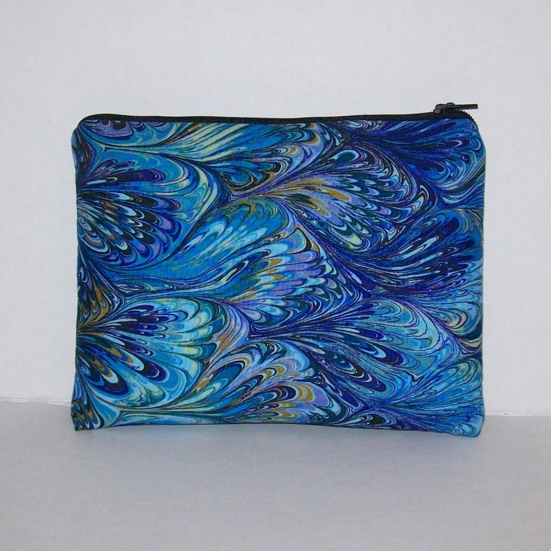 Blue Oil Slick Pipe Pouch  Glass Pipe Case  Pipe Bag  image 0