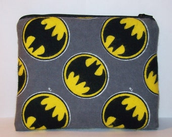 """Pipe Pouch, Batman Bag, Padded Pouch, Pipe Case, XL Pipe Bag, Zipper Bag, Stoner, Glass Pipe Case, Nerd Gift, Gadget Bag, 7.5"""" x 6"""" X LARGE"""