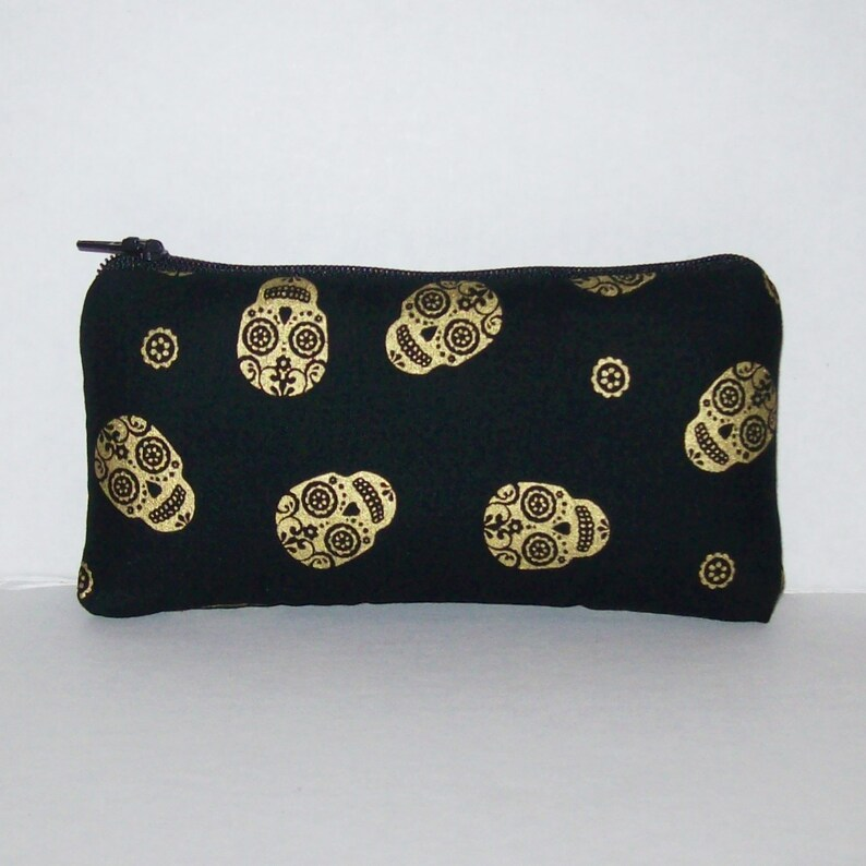 Sugar Skulls  Padded Pipe Pouch  Glass Pipe Case  Pipe Bag image 0